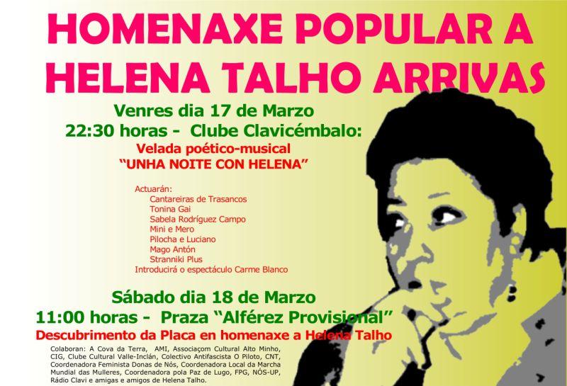 Homenagem Helena Talho