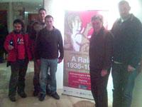 De direita à esquerda: Bruno Ruival, J.L. Fontenla, Alexandre Ramos, David Cortom e Valentim R. Fagim
