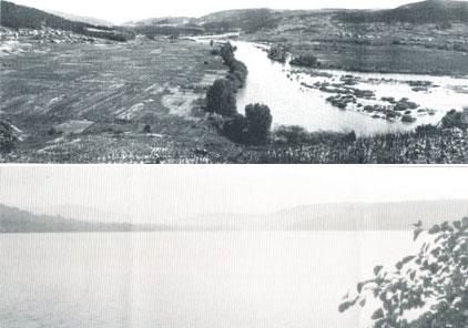 Castrelo antes e depois da barragem