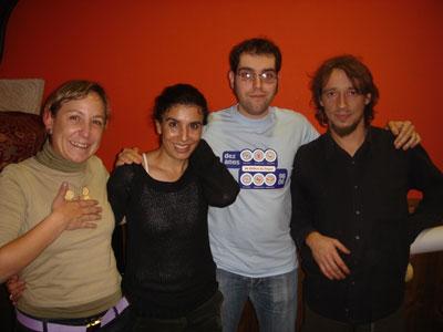 Cris, Encarna, Beltrám e António trabalham nos Cursos 2006-07