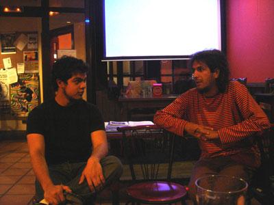Miguel, � esquerda, e David Bru�os, � direita